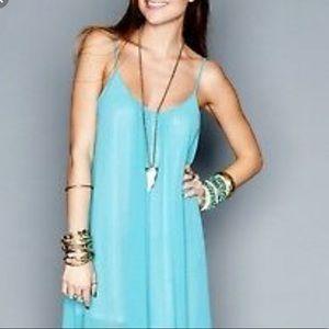 SMYM turquoise turlington maxi dress